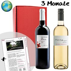 Ein Weinabo als #Geschenkidee für #Weintrinker. Das #Weinabo endet automatisch und kann für 2 Monate bis zu 12 Monaten abonniert werden. Ob Rotwein, Weißwein oder beides, sie bestimmen den Inhalt des Abos.
