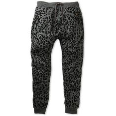 American Stitch Leopard Jogger Sweatpants (205 NOK) via Polyvore featuring activewear, activewear pants, relaxed fit sweatpants, leopard print sweatpants, american stitch, sweat pants and loose sweatpants