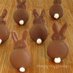 Hungry Happenings: Chocolate Bunny Silhouettes made using Vanilla Wafer Cookies and Marshmallows