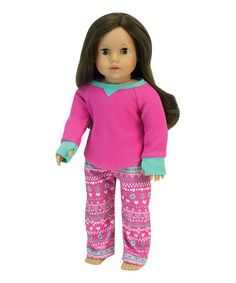 Loving this Pink Pajama Outfit for 18'' Doll on #zulily! #zulilyfinds
