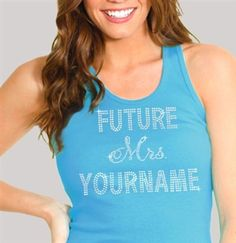 Customize a future Mrs. tank to workout in and sweat for your wedding!