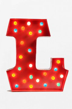 Marquee Alphabet Light with Multicolored Lights