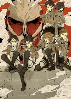 Shingeki no Kyojin (Attack on Titan) … yes let's just sit hear and take a pic while there's a Titan behind us