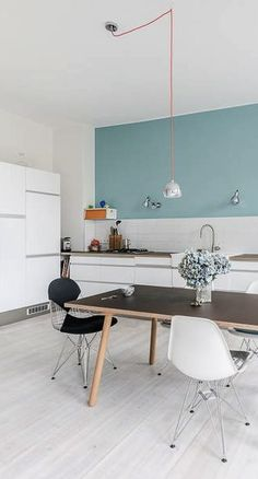 NOT THE STYLE BUT THE COLOUR!! Via Nordic Days | Berlin Apartment by Karhard www.nordicdays.nl