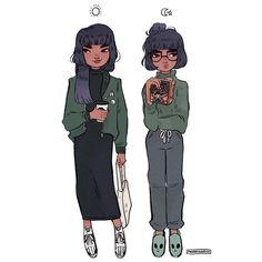 ☀️ Feeling kinda bad cause I don't draw her a lot ( •~•; ) • • • #illustration #art #ootd #spacegirls #oc