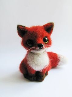 Needle felted fox on Etsy, $55.56 CAD
