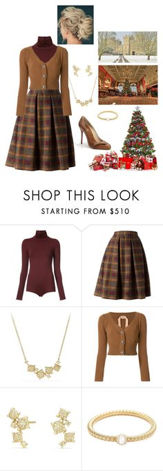 """""""Christmas morning, The Royal Family unwraps presents (Queen Rose outfit)"""" by hm-queen-rose ❤ liked on Polyvore featuring Victoria Beckham, Stella Jean and David Yurman"""
