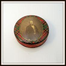 Tartanware Pin Cushion with Prince Albert Photo