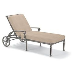 Carlisle Chaise Lounge with Cushions in Slate Finish