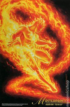 Marvel Masterprints Human Torch (1994) 1- Greg & Tim Hildebrandt