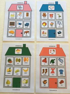 jeg har laget spill for Dementia Activities, Sorting Activities, Speech Therapy Activities, Activities For Kids, Crafts For Kids, Autism Teaching, English Activities, Montessori Materials, Creative Activities