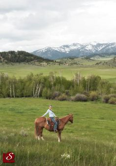 Me on my horse Dude Boy, @the Cowgirl Yoga Ranch. Crazy Mountains in the background. June 2011.