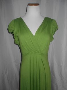 MAX Edition PL Green Dress EUC Soft Viscose Stretch Jersey #MaxEdition #Jersey #Casual