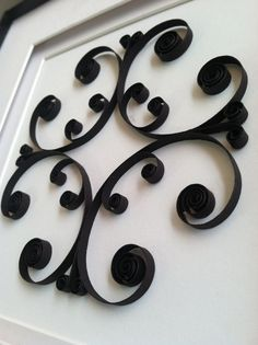 Paper Filigree Scroll Art  Black and White  by PaperAcanthus, $39.98