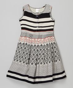 Take a look at this Black & White Stripe A-Line Dress - Infant today!