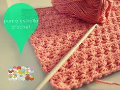 Free pattern at: http://hamoraima.blogspot.com.es/2013/04/punto-estrella-en-crochet.html