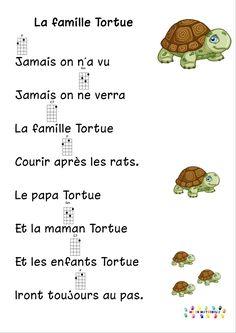 la famille tortue pour ukulélé