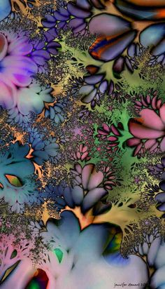 Great Color Combo Color Combos, Fractals, Abstract, Artwork, Plants, Addiction, Wallpapers, Beautiful, Fashion