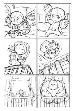 Check out this interior sketch from A-Babies Vs. X-Babies #1 by Gurihiru!