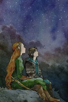 tauriel and killi<don't care if it happened or not.  I ship that. plus its the first time i've shipped anything.  haha shipped