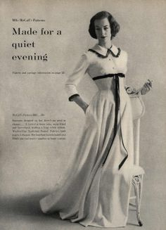 Made for a Quiet Evening Editorial from Mademoiselle Magazine, November 1956