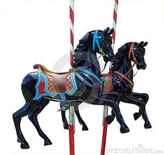 Photo about Two Black Merry-Go-Round Horses isolated with clipping path. Image of round, amusement, white - 6838443 Sea Isle City, Wood Burning Art, Merry Go Round, Carousel Horses, Horse Photos, Paths, Royalty Free Stock Photos, Poster