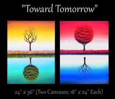 Bing Art by Rachel Bingaman: Four Seasons Tree Art, Landscape Painting…