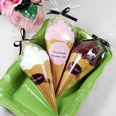 Could instead do cotton candy in cones as party favors