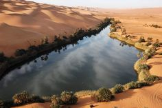 Umm al-Maa Lake in Libya: lakes like this in the past few years ...