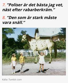 Citat av Astrid Lindgrens Pippi Långstrump