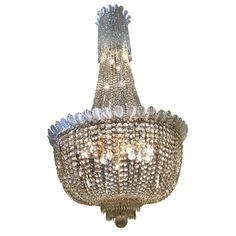 LIGC10001;- Very large crystal bag #chandelier 4' wide x 7'6 high 130kg.    X3 Available to hire, please contact www.farley.co.uk for further information. Large Crystals, Clever Design, Ceiling Lights, Chandeliers, Beautiful, Bag, Transitional Chandeliers, Chandelier, Ceiling Lamps