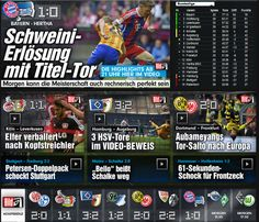 Apr 25: Bundesliga results+FC Bayern Munich only 1:0, so, have to fight harder to win vs Barca lol! 6:1 vs Porto was thx to my dangerous mind lol (every time I thought to move to Bavaria, less than 1 minute later a goal, similar why less than 1 minute later also 1:0 by Mario Götze after thinking of Dr. Merkel's b'day+WorldCup2014 as her 60th b'day gift lol), otherwise only 1:0 like today lol ;-D http://www.bild.de/bundesliga/1-liga/home-1-bundesliga-fussball-news-31035072.bild.html