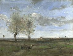 A Wagon in the Plains of Artois 1871, Jean-Baptiste-Camille Corot