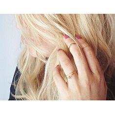 wearing her rings My Love, Rings, How To Wear, Jewelry, Fashion, Moda, Jewlery, Jewerly, Fashion Styles