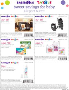 Pinned May 27th: $10 off 78ct boxes of #diapers & more at #ToysRUs & #BabiesRUs #coupon