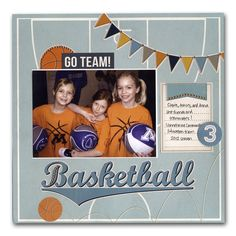 Basketball Kids Layout - could use for soccer or baseball too.