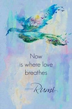 Now is where Love Breathes ~ Rumi