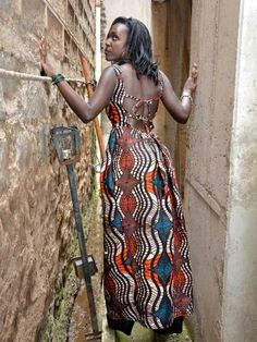 Pegged, Backless Kitenge / Ankara Maxi Dress