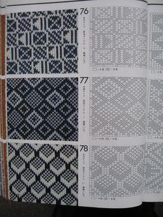 Ornaments and patterns (+oriental) - Monika Romanoff - Picasa Web Albümleri Intarsia Patterns, Tapestry Crochet Patterns, Fair Isle Knitting Patterns, Knitting Machine Patterns, Knitting Paterns, Knitting Charts, Weaving Patterns, Knitting Stitches, Knitting Designs