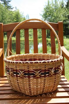 Majestic Hexagon Basket by BlueFrogBasketry on Etsy, $85.00