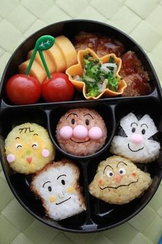 Japanese Anime Anpanman Family Kyaraben Bento | by kentomama.  Some Japanese parents have gone far to make lunches interesting for their children - the children eat more that way