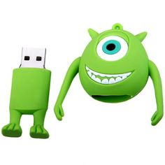 16GB USB 2.0 Rubber Cartoon Monsters University Mike Wazowski Design U Disk #jewelry, #women, #men, #hats, #watches, #belts, #fashion