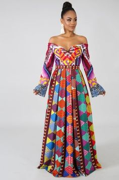 New Multi Pattern Maxi Dress. Fashion women dresses from top store African Wear, African Attire, African Dress, African Style, African Print Fashion, African Fashion Dresses, Dress Fashion, Dress Backs, Dress Up