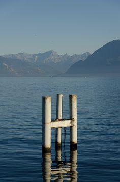 Leman Lake in Switzerland