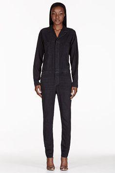 6397 black faded denim jumpsuit, $595.