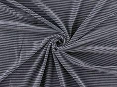 Nickistoff, Streifen, grau, 175.421-5080,  bei stoffe-hemmers.de, Sehr schöner Nickistoff mit Querstreifen, besonders geeignet für Schlafanzüge,