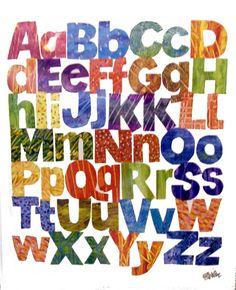 エリックカール Eric Carle - alphabets アルファベット -|ポスター|Happy Graphic Gallery ハッピーグラフィックギャラリー