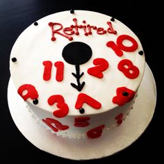 Clock Retirement Themed Cake