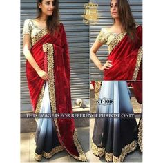 Sophisticated Red Color Party wear & Designer Saree at just Rs.1425/- on www.vendorvilla.com. Cash on Delivery, Easy Returns, Lowest Price.