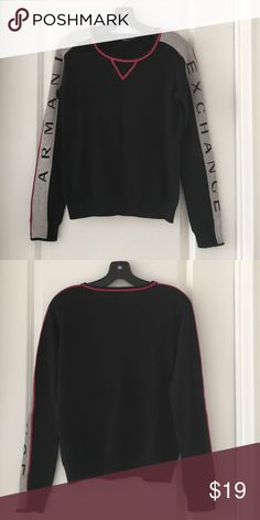 USED A/X Armani Exchange Women's Sweater Pre-owned A/X Armani Exchange Sweater, size small, crew neck, long sleeves, light weight, excellent condition like new A/X Armani Exchange Sweaters Crew & Scoop Necks